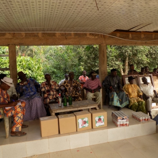 Okomu visit to the Gbele-Uba Community