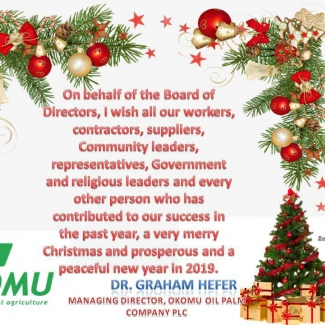 Okomu MD's Christmas Message