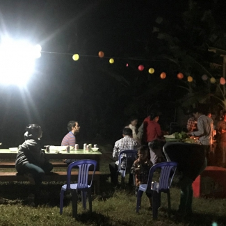 Socfin Cambodia organized a party for his team members and their families to join together and celebrate the new year