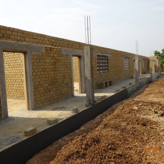 Kotemuhun school under construction in Sierra Leone