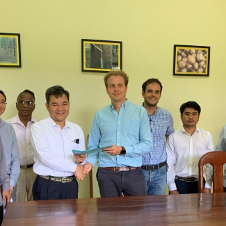 2019 10 25 Visit of the Cambodia Rubber Research Institute and its Director at Socfin Cambodia