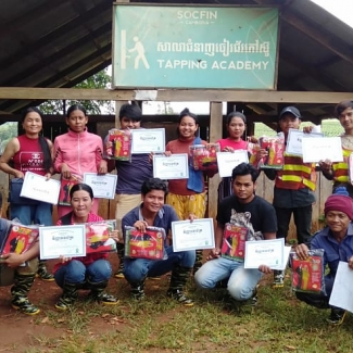 2020 10 16 Training at Socfin Cambodia Tapping Academy